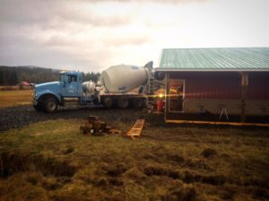Jones Creek Brewing - Pouring Concrete